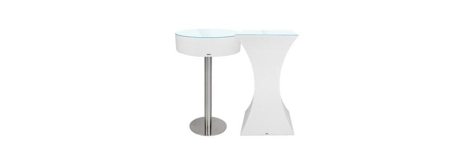 Die LED Designer Lounge Leuchttische weisen...