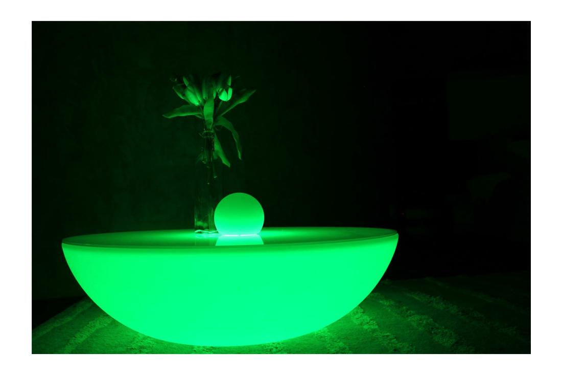 LED Leuchtmöbel ROKTOP LED Tieftisch, Loungetisch