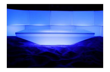 Couchtisch Designtisch Loungetisch LED Leuchtmöbel SQUARE TOP LED Tieftisch